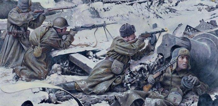 Подпустил фашистов на близкое расстояние и открыл по ним огонь