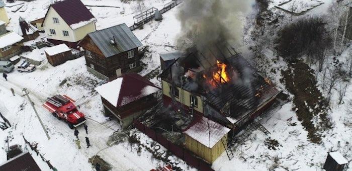 С наступлением холодов на Алтае увеличилось число пожаров