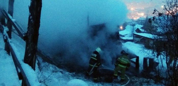 На пожаре в Горно-Алтайске погиб мужчина