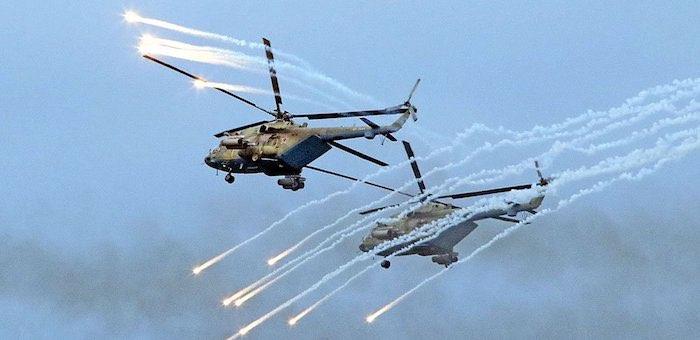 «Терминаторы» и «Крокодилы» провели учебный бой в небе над Горным Алтаем