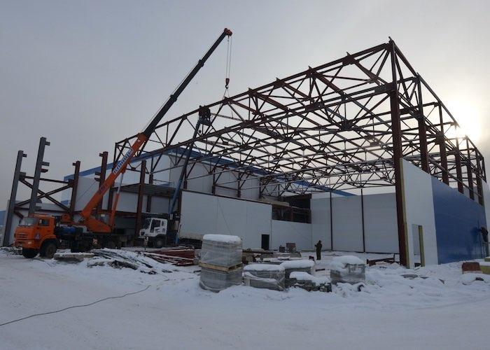 Открытие ледового дворца ожидается в мае этого года