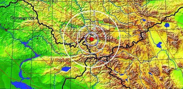 Землетрясение произошло на юге Горного Алтая
