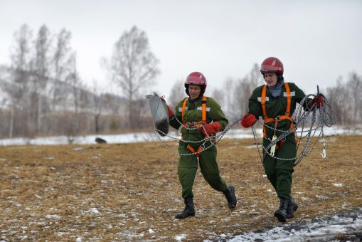 «Лесной спецназ» на учениях: фотозарисовка