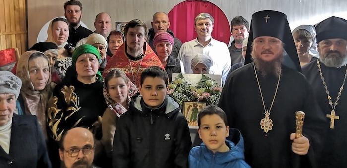 В Никольском храме в Кызыл-Озеке состоялось первое богослужение