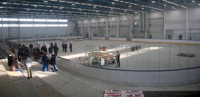 Строительство ледового дворца в Майме вышло на финишную прямую