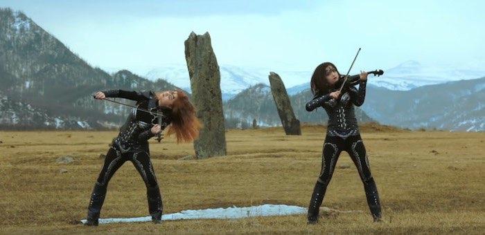 Девушки из скрипичного трио Silenzium сняли новый клип в горах Алтая