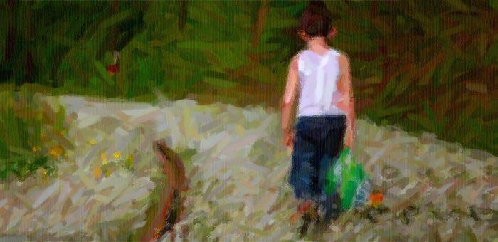 Мальчик отправился пешком за 50 километров, чтобы повидать родного отца