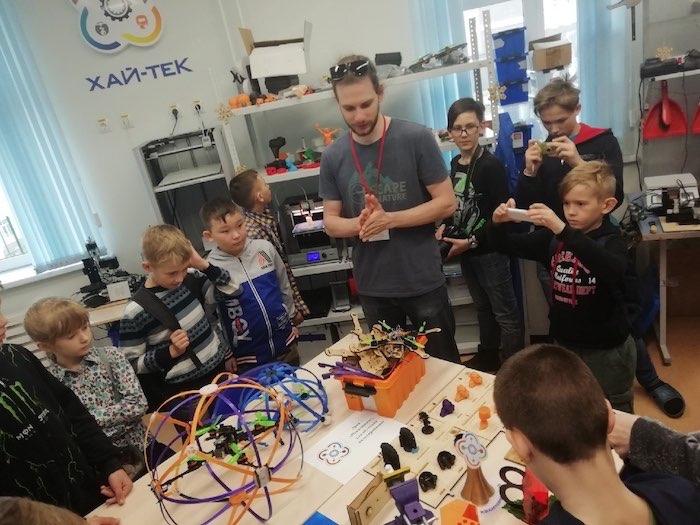 Школьники Майминского района побывали в детском технопарке