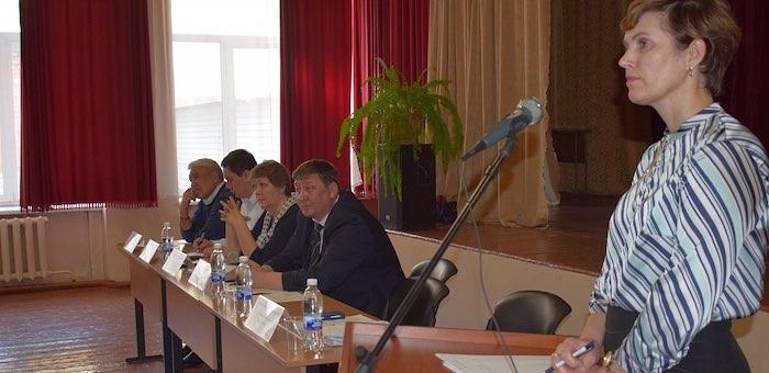 В гимназии №3 прошла встреча местных жителей с руководством Горно-Алтайска