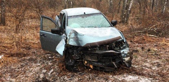 Житель Майминского района разбил автомобиль об дерево