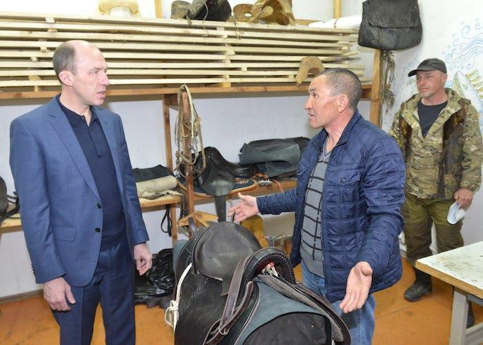 Олег Хорохордин посетил с рабочим визитом Онгудайский район