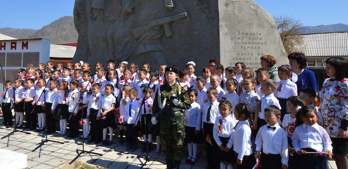 Воспитанники онгудайских детских садов спели песни военных лет
