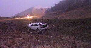 В «Долине смерти» перевернулась машина, водитель выжил