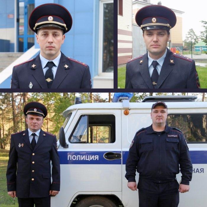 Полицейские спасли двух мужчин из горящего автомобиля