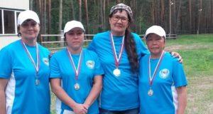 Женская команда из Республики Алтай стала призером чемпионата Сибири по городошному спорту