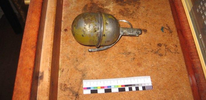 В доме умершего ветерана обнаружили боевую гранату