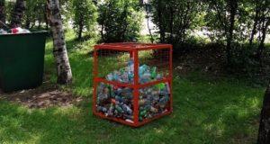 Контейнеры для пластика появляются во дворах многоквартирных домов Горно-Алтайска
