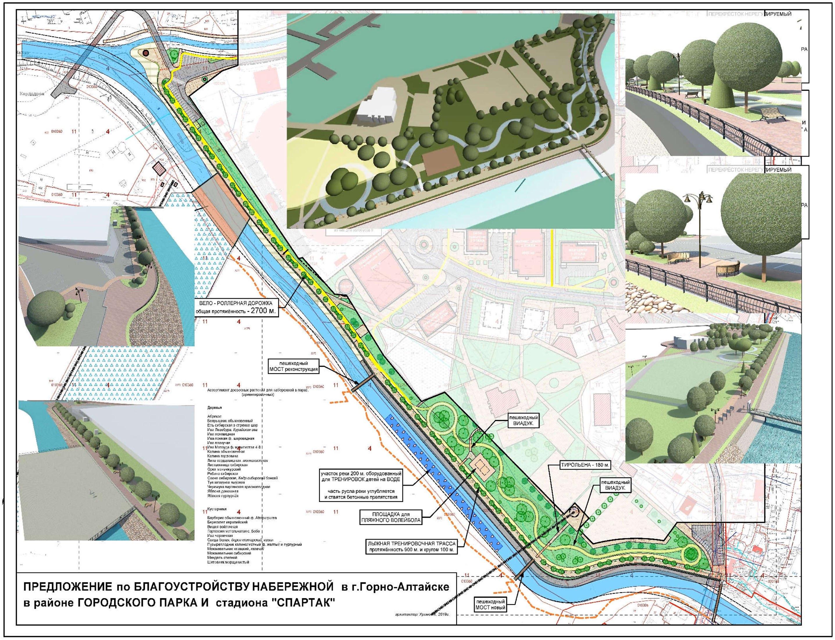 Утвержден проект благоустройства набережной реки Майма в районе городского парка