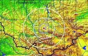 Очередное землетрясение произошло возле Акташа сегодня утром