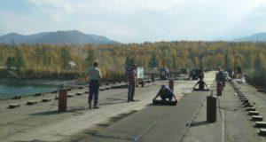 Строительство моста через Катунь в районе Тюнгура завершается