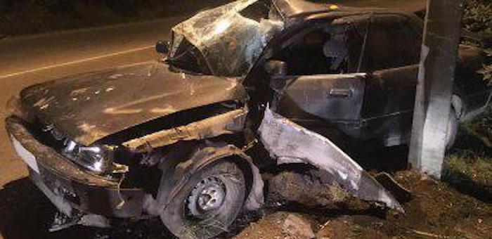 Ночная поездка в нетрезвом виде обернулась разбитой машиной