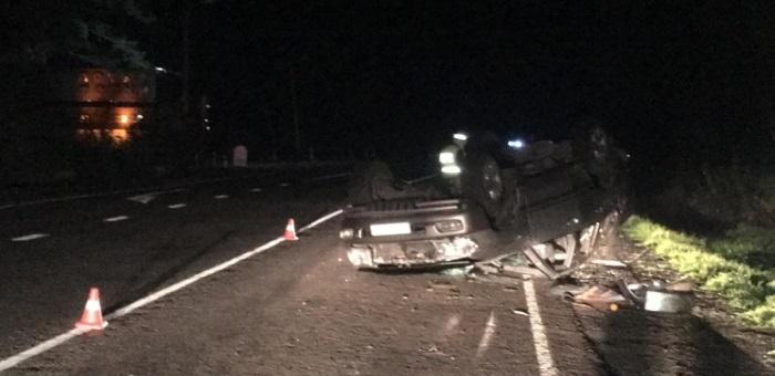 Молодой человек без прав разбил Toyota Land Cruiser 100 на Чуйском тракте