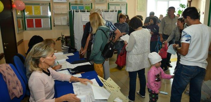 Уже около 40% избирателей приняли участие в выборах на Алтае