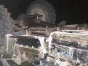 На склоне горы перевернулся грузовик, два человека погибли