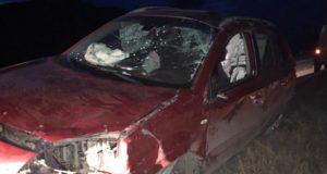 Очередная авария на участке между Мыютой и Шебалино: перевернулся Renault Koleos