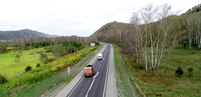 83 км Чуйского тракта отремонтировали в этом году в Республике Алтай