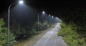 На региональных дорогах устанавливают электроосвещение