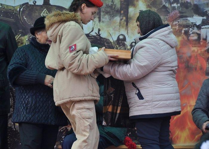 В Московской области перезахоронили воина, ушедшего на фронт с Алтая