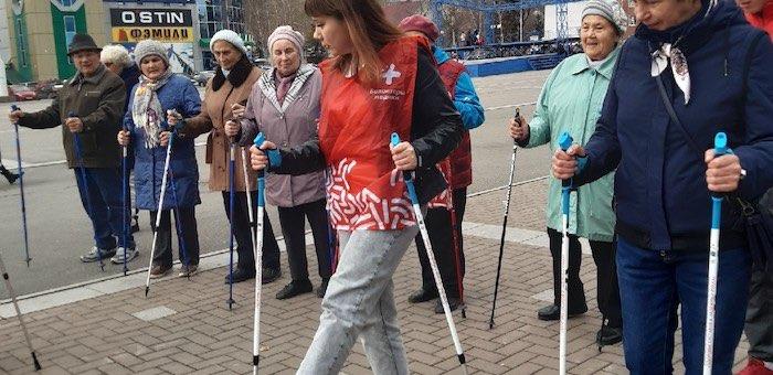 Ветеранов обучили основам скандинавской ходьбы