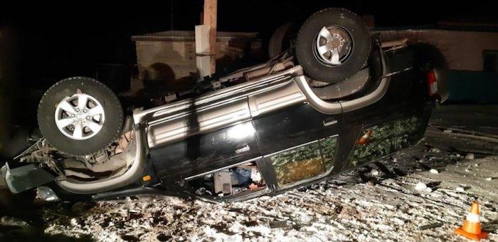 На дороге из Кош-Агача в Беляши ночью перевернулась Тoyota Hilux Surf