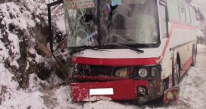 Автобус столкнулся с грузовиком в Шебалинском районе