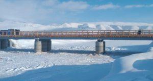 На дороге к селу Кызыл-Таш и альплагерю Актру построили мост
