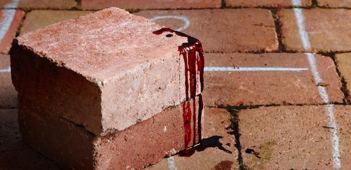 Горожанка ударила кирпичом по лицу сожителя, который пришел ее забрать из чужого дома