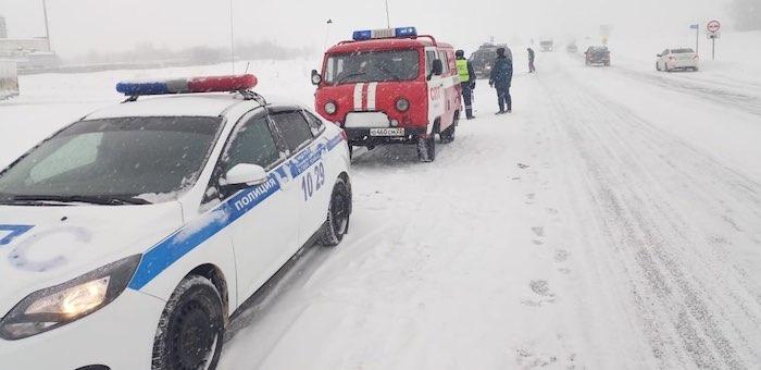 Из-за непогоды ограничено движение транспорта в сторону Барнаула