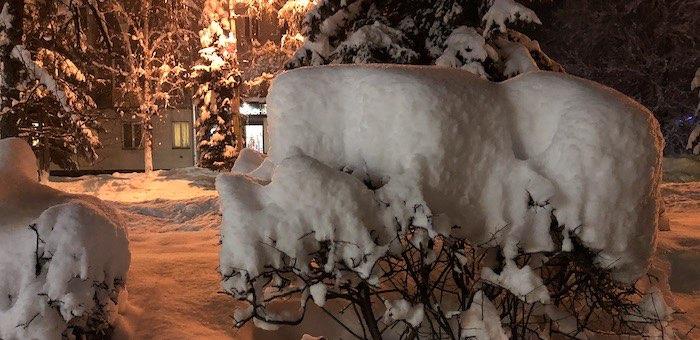 К выходным снегопад прекратится