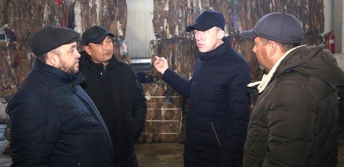Олег Хорохордин проинспектировал завод по переработке и утилизации ТБО