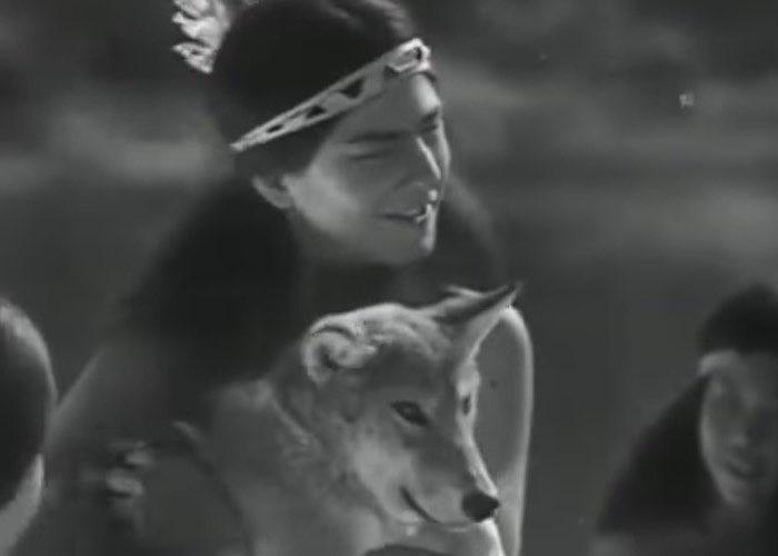 Кадр из фильма «Белый клык» режиссера А. Згуриди.