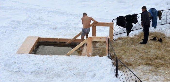 18 мест оборудовано на водоемах Горного Алтая для крещенских купаний