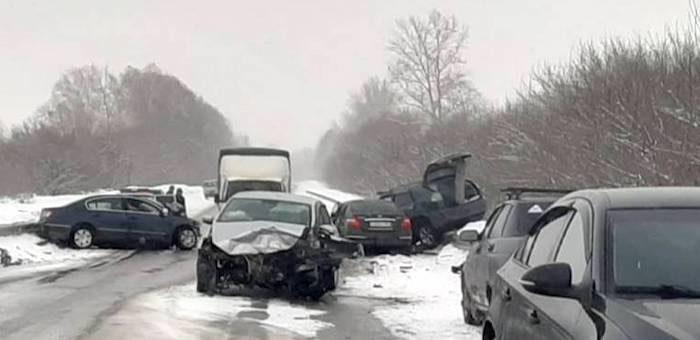 Массовое ДТП возле Суртайки: столкнулись четыре машины, пострадали шесть человек