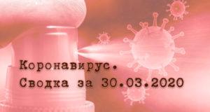 Ситуация с коронавирусом в Республике Алтай. Сводка за 30 марта