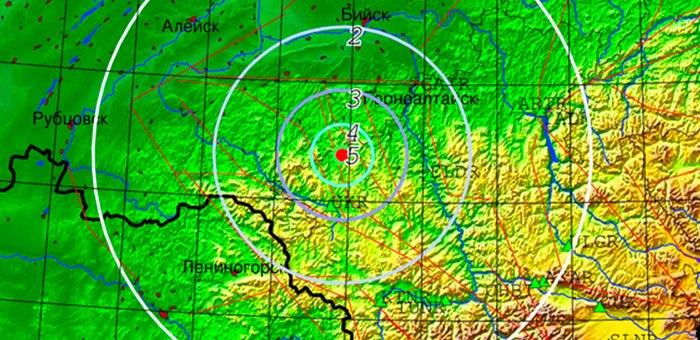 Недалеко от Горно-Алтайска произошло землетрясение магнитудой 4.2