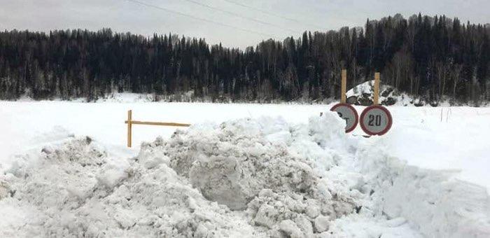 В Республике Алтай закрыли все ледовые переправы