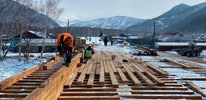 Новый мост в Усть-Кумире планируется достроить раньше срока