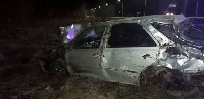 Нетрезвый водитель из Барангола опрокинул автомобиль на Чуйском тракте