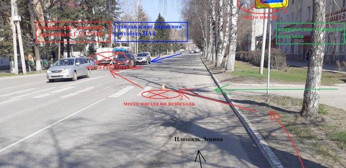 «Газель» без тормозов сбила мужчину на пешеходном переходе и врезалась в автобус