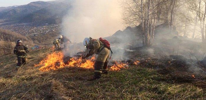 Виновника пожара в районе Бочкаревки привлекли к ответственности
